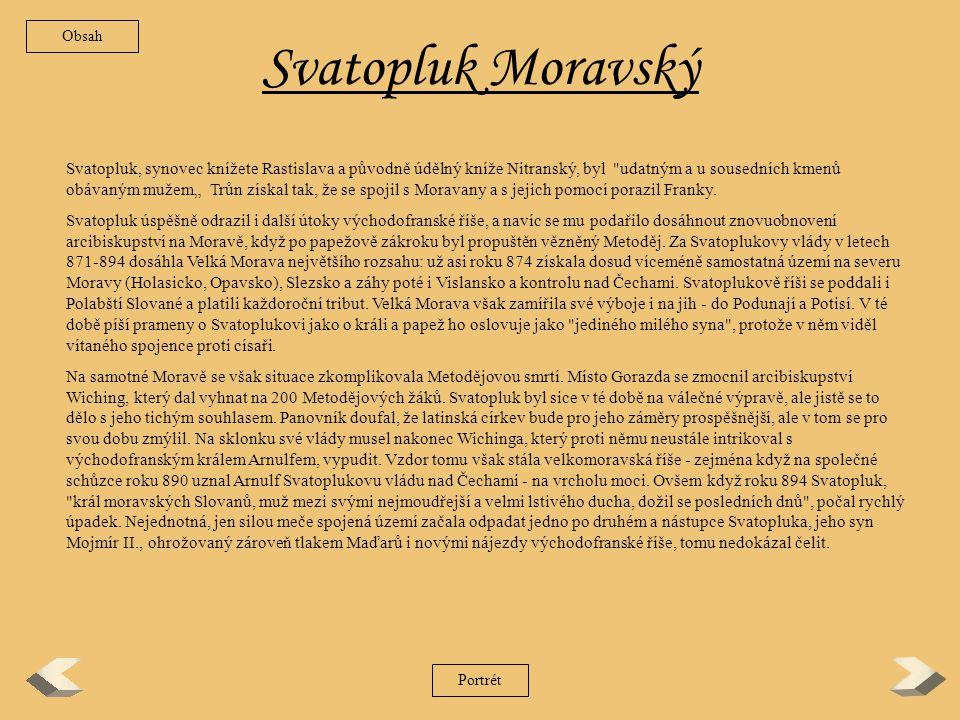Obsah Svatopluk Moravský.