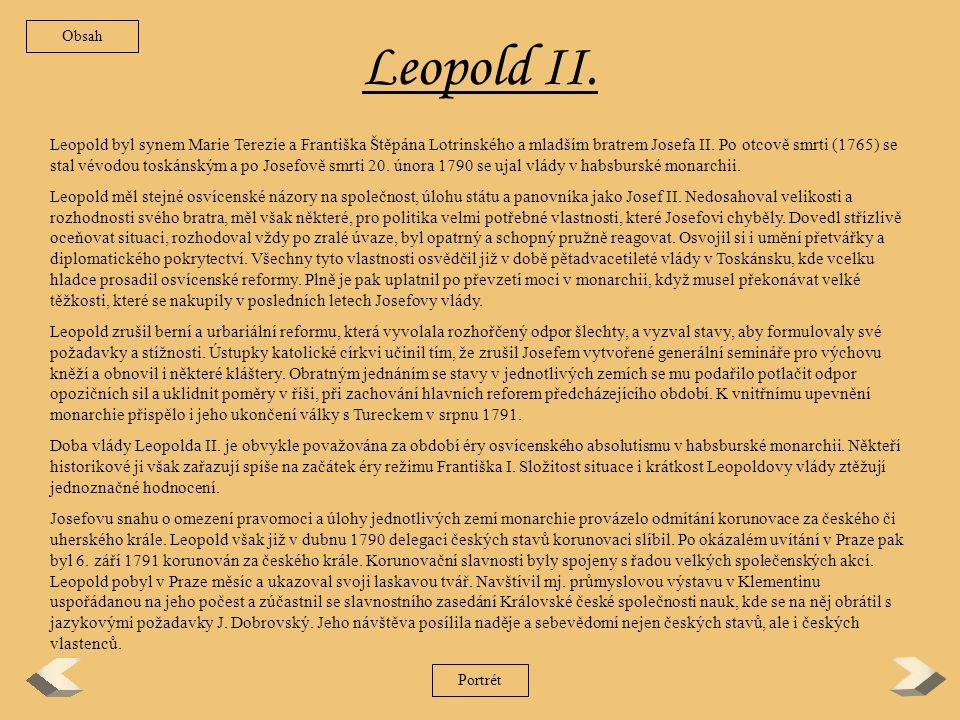 Obsah Leopold II.