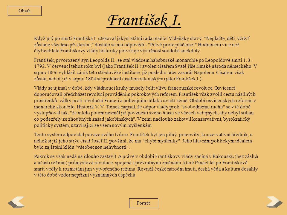 Obsah František I.