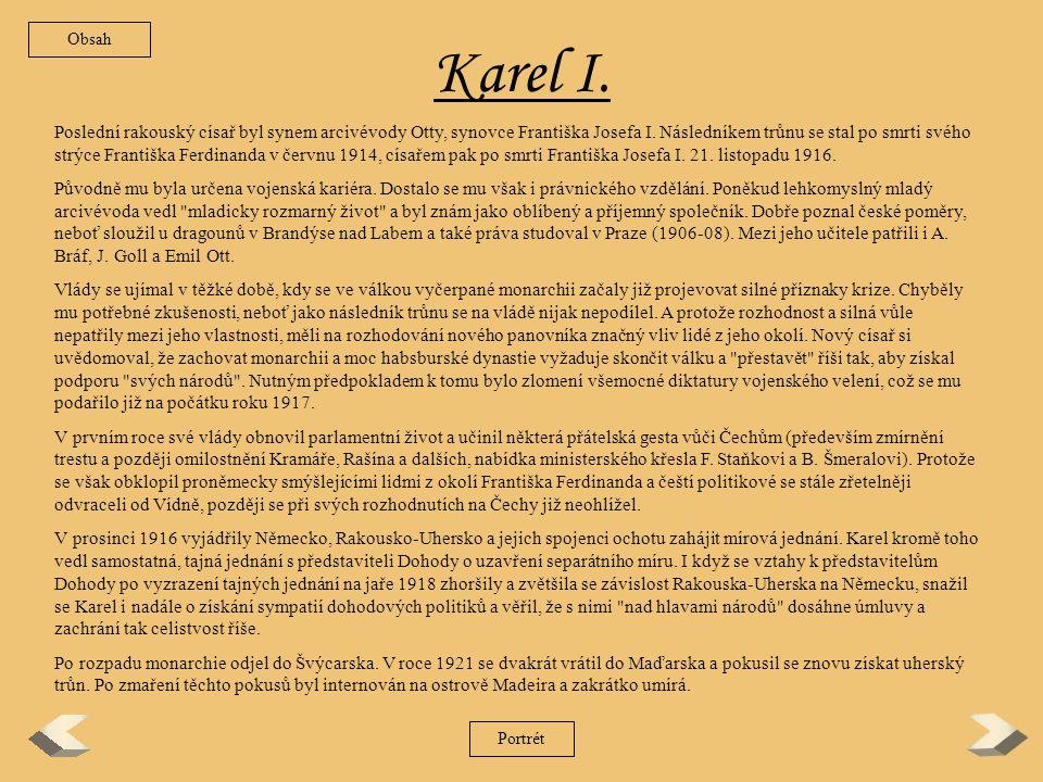 Obsah Karel I.