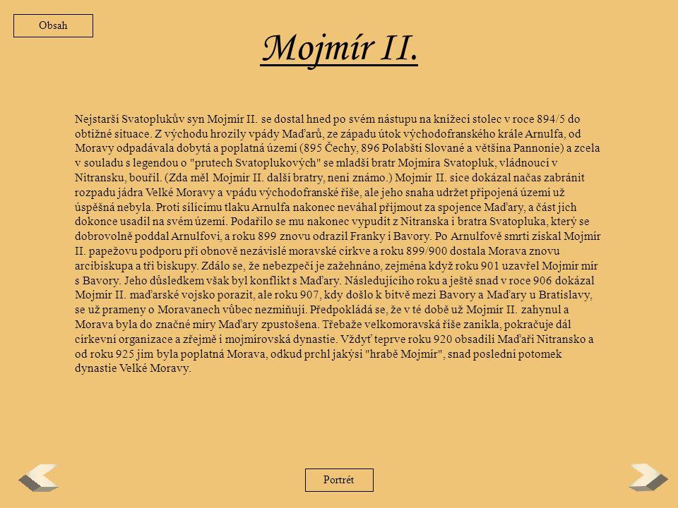 Obsah Mojmír II.