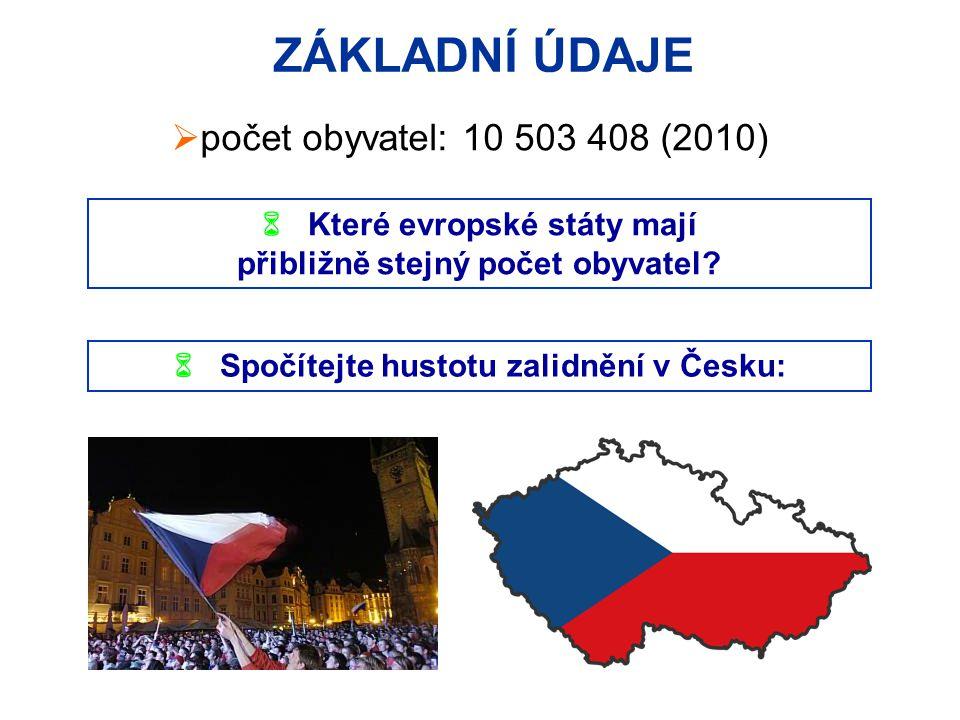 ZÁKLADNÍ ÚDAJE počet obyvatel: 10 503 408 (2010)