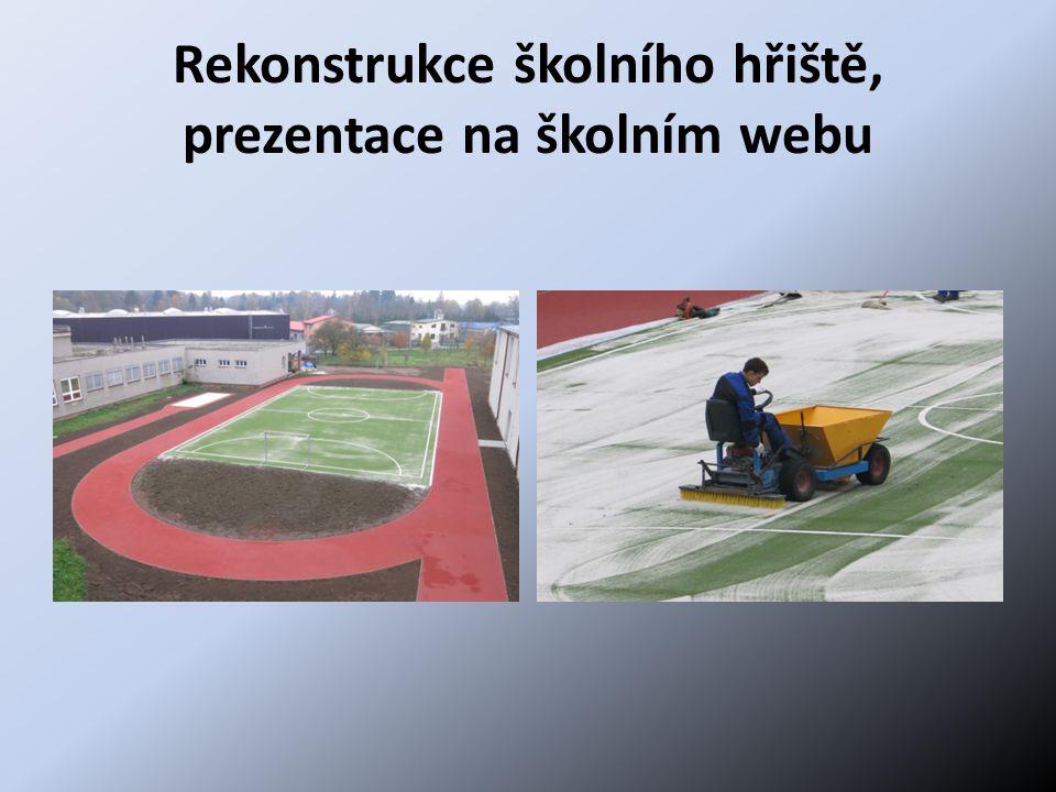 Rekonstrukce školního hřiště, prezentace na školním webu