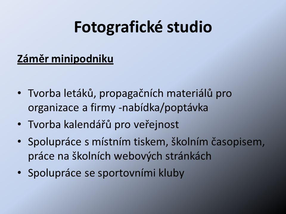 Fotografické studio Záměr minipodniku