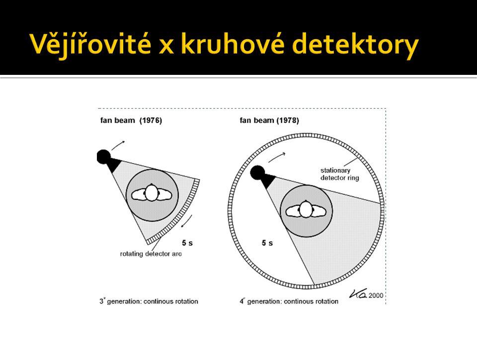 Vějířovité x kruhové detektory