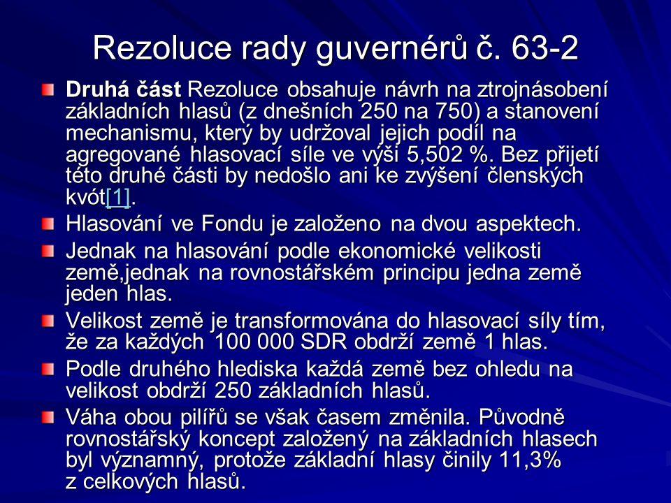 Rezoluce rady guvernérů č. 63-2