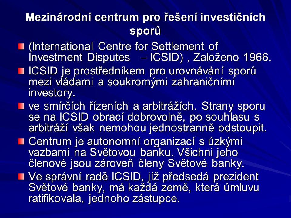 Mezinárodní centrum pro řešení investičních sporů