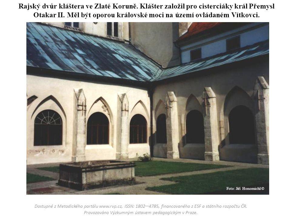 Rajský dvůr kláštera ve Zlaté Koruně