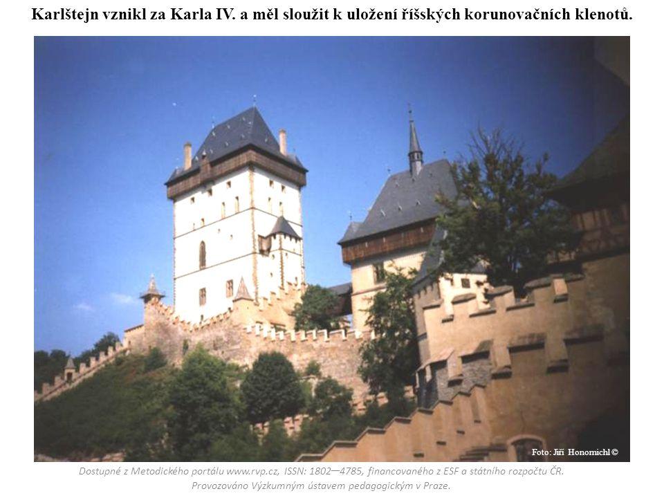 Karlštejn vznikl za Karla IV