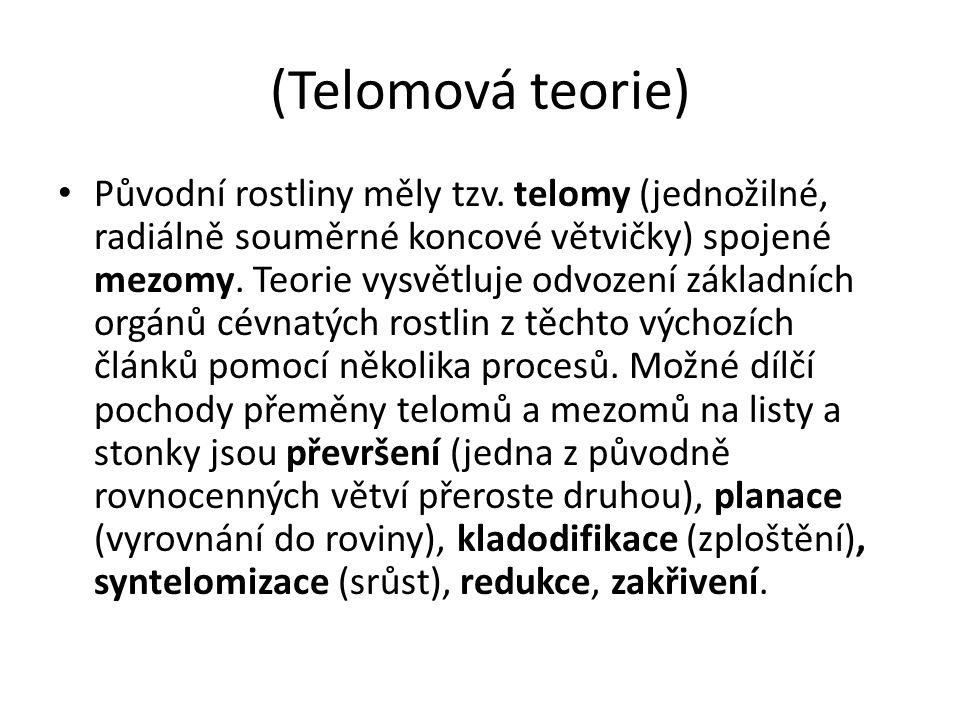 (Telomová teorie)