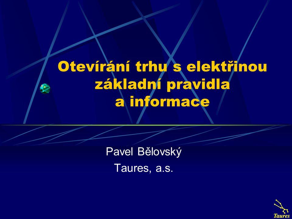Otevírání trhu s elektřinou základní pravidla a informace