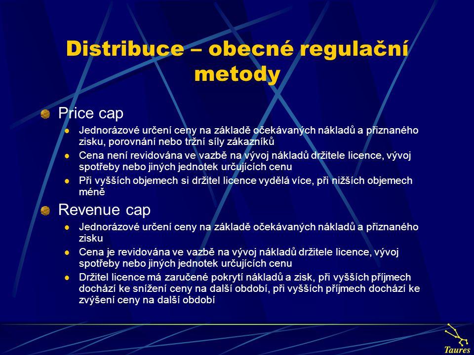 Distribuce – obecné regulační metody