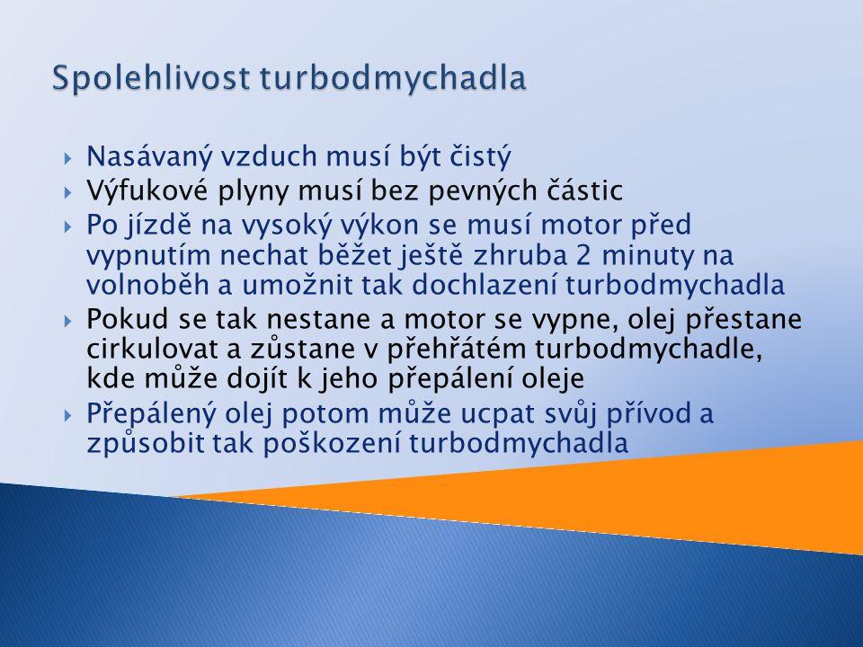 Spolehlivost turbodmychadla