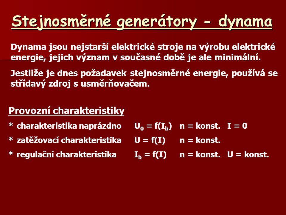Stejnosměrné generátory - dynama