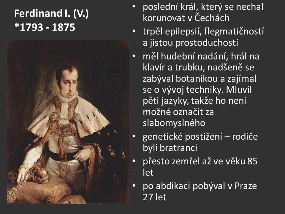 poslední král, který se nechal korunovat v Čechách