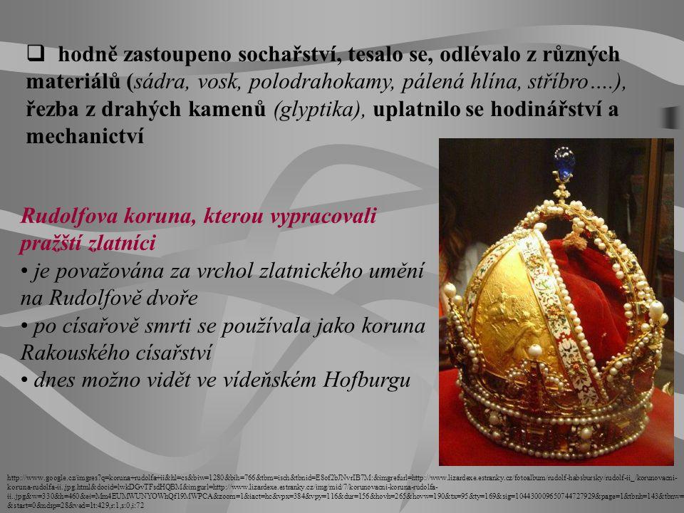 Rudolfova koruna, kterou vypracovali pražští zlatníci