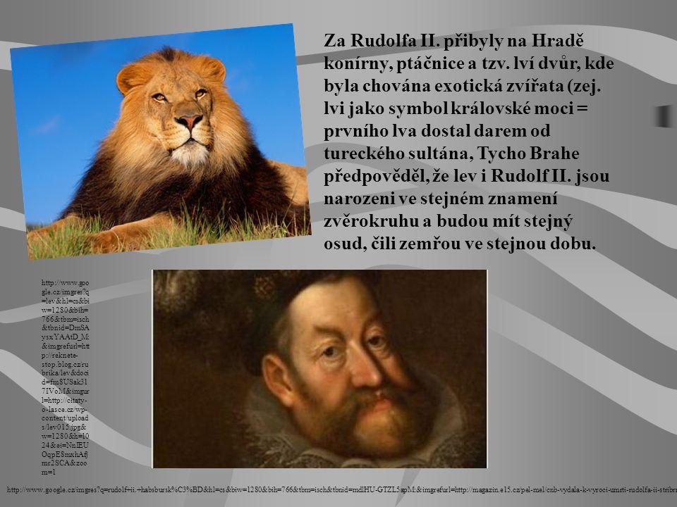 Za Rudolfa II. přibyly na Hradě konírny, ptáčnice a tzv