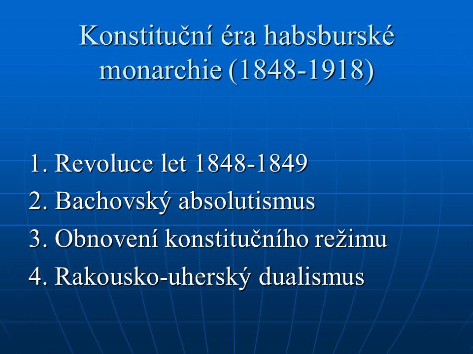 Konstituční éra habsburské monarchie (1848-1918)