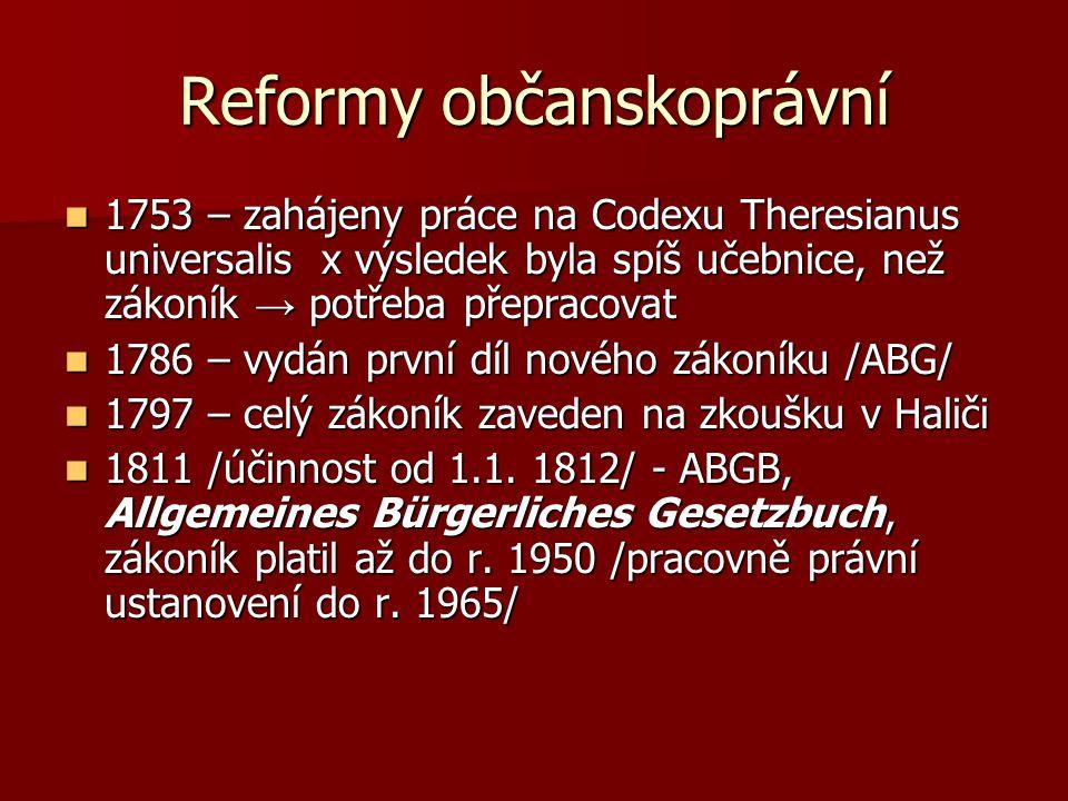 Reformy občanskoprávní