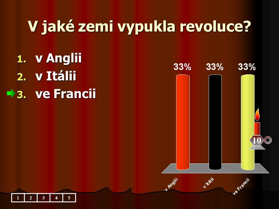 V jaké zemi vypukla revoluce
