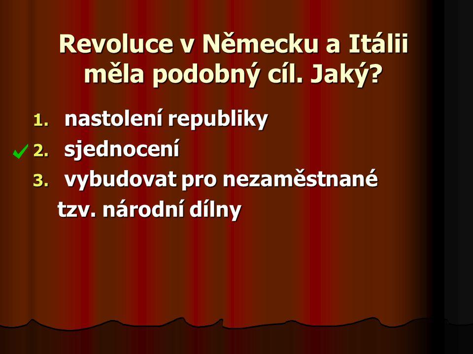 Revoluce v Německu a Itálii měla podobný cíl. Jaký