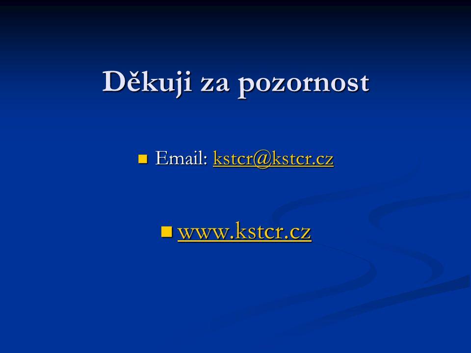 Děkuji za pozornost www.kstcr.cz