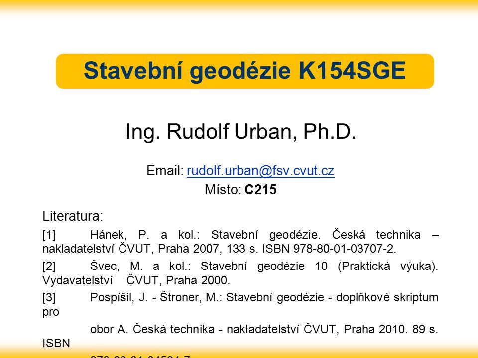 Stavební geodézie K154SGE