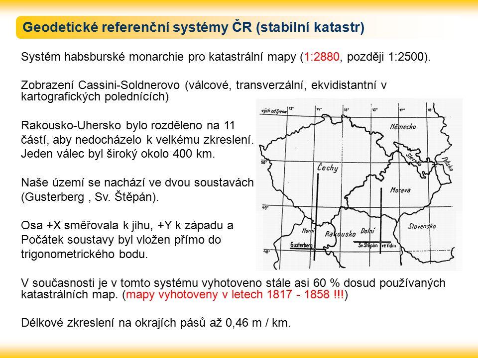 Geodetické referenční systémy ČR (stabilní katastr)
