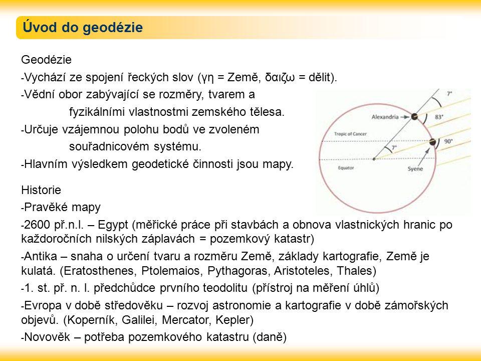 Úvod do geodézie Geodézie