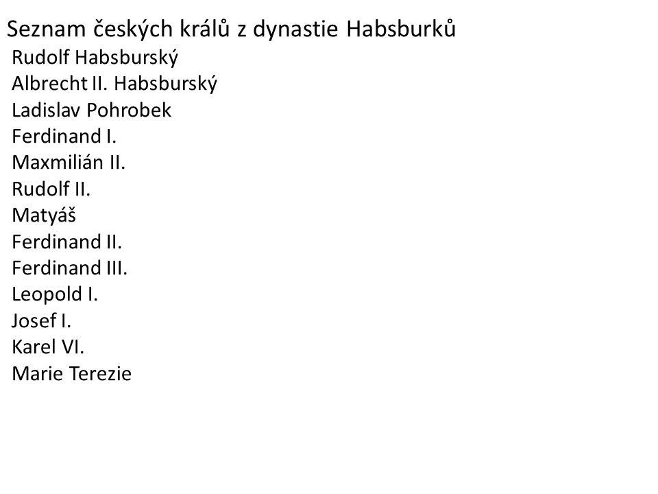 Seznam českých králů z dynastie Habsburků