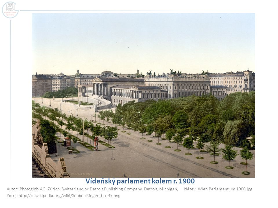 Vídeňský parlament kolem r. 1900