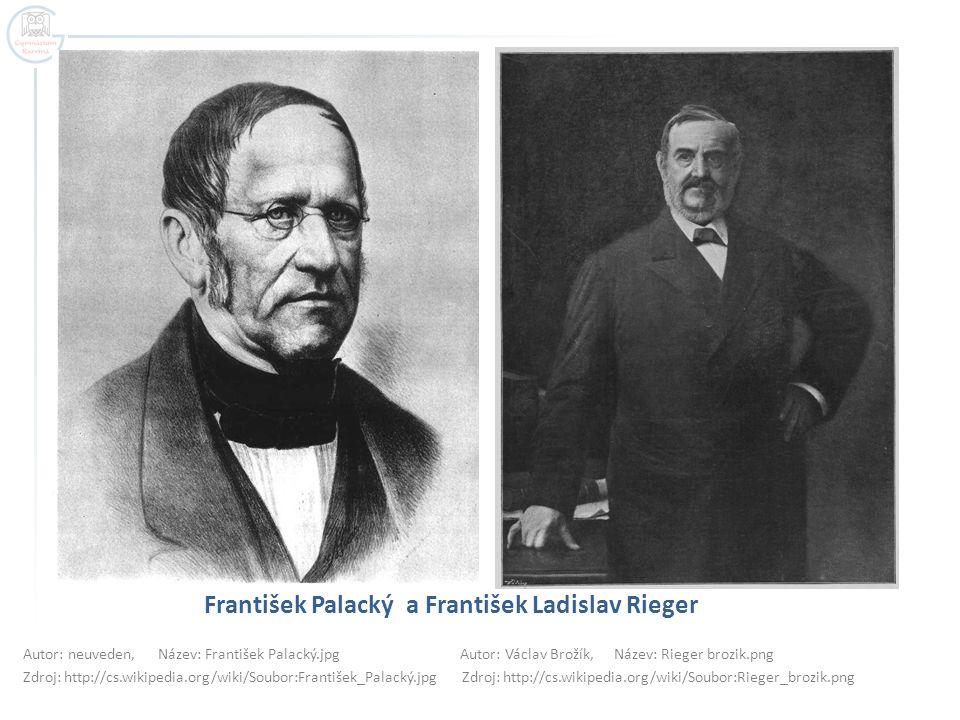 František Palacký a František Ladislav Rieger