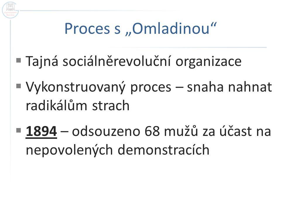 """Proces s """"Omladinou Tajná sociálněrevoluční organizace"""