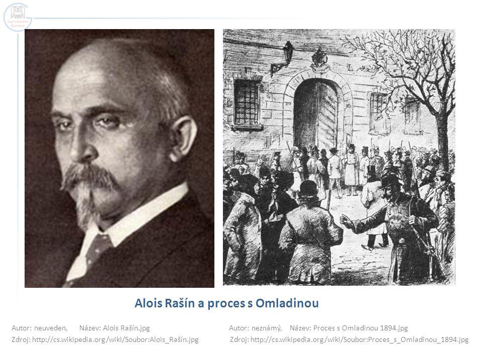 Alois Rašín a proces s Omladinou