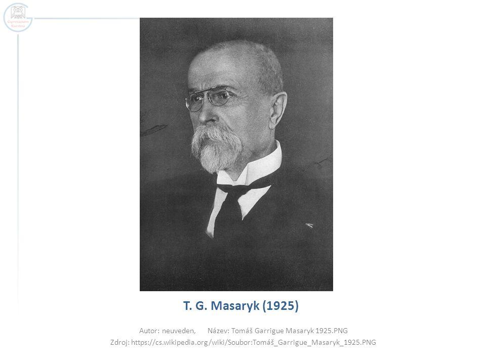 Autor: neuveden, Název: Tomáš Garrigue Masaryk 1925.PNG