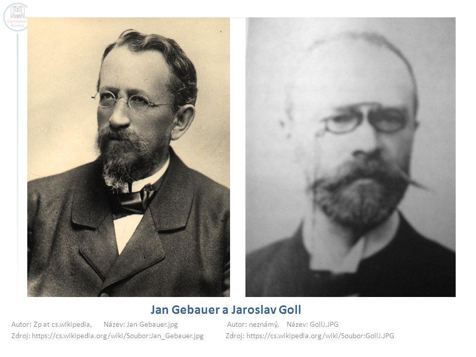 Jan Gebauer a Jaroslav Goll