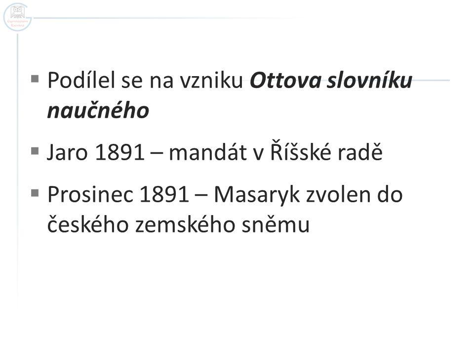 Podílel se na vzniku Ottova slovníku naučného