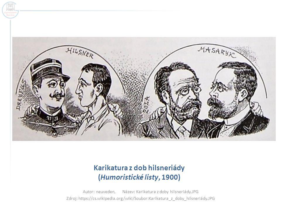 Karikatura z dob hilsneriády (Humoristické listy, 1900)