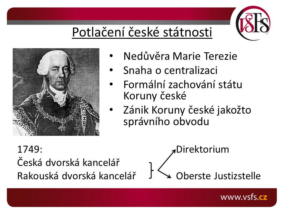 Potlačení české státnosti