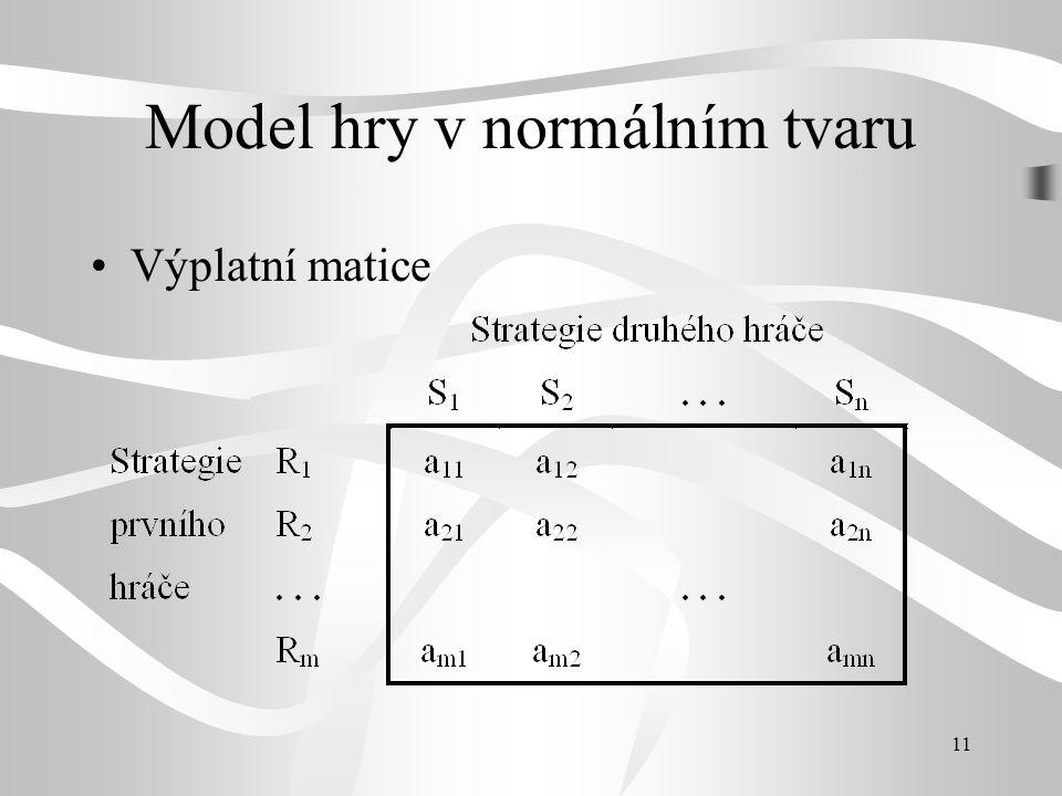 Model hry v normálním tvaru