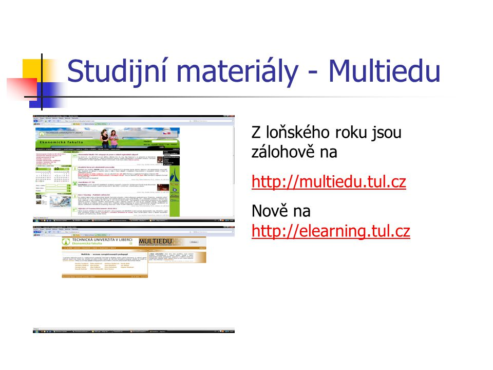 Studijní materiály - Multiedu