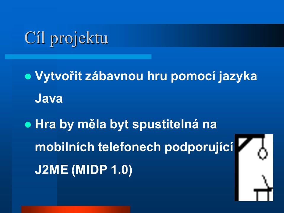 Cíl projektu Vytvořit zábavnou hru pomocí jazyka Java