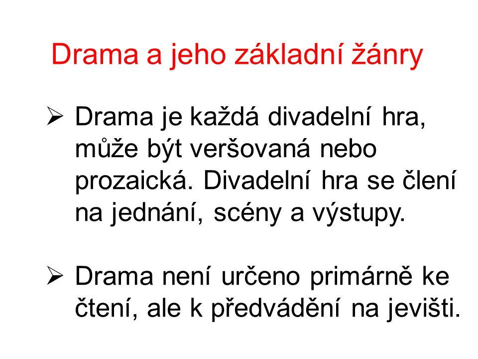 Drama a jeho základní žánry