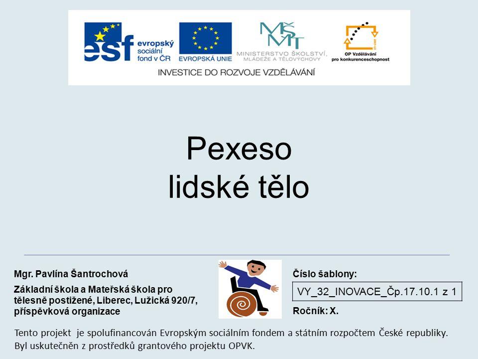 Pexeso lidské tělo VY_32_INOVACE_Čp.17.10.1 z 1