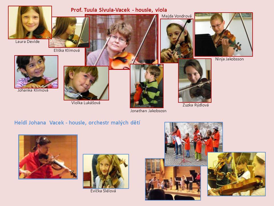Prof. Tuula Sivula-Vacek - housle, viola
