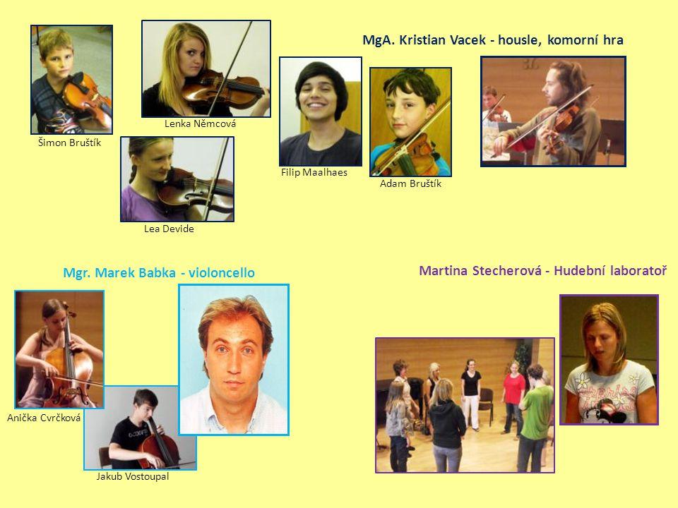 MgA. Kristian Vacek - housle, komorní hra
