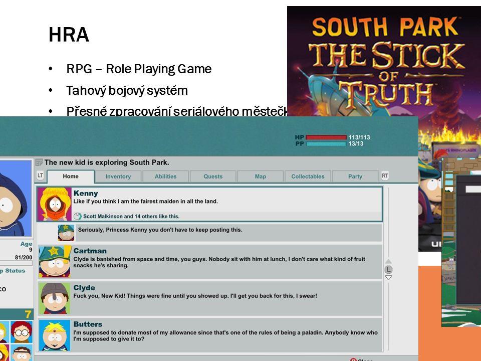 HRA RPG – Role Playing Game Tahový bojový systém