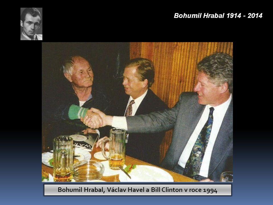Bohumil Hrabal, Václav Havel a Bill Clinton v roce 1994