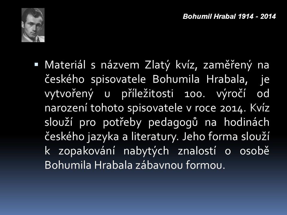 Bohumil Hrabal 1914 - 2014