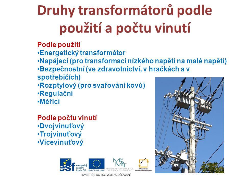 Druhy transformátorů podle použití a počtu vinutí